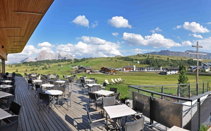 The mountain restaurant on the Alpe di Siusi – you've reached your destination …