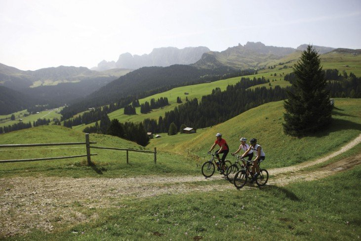 Located directly across the mountain station of the ski resort Alpe di Siusi